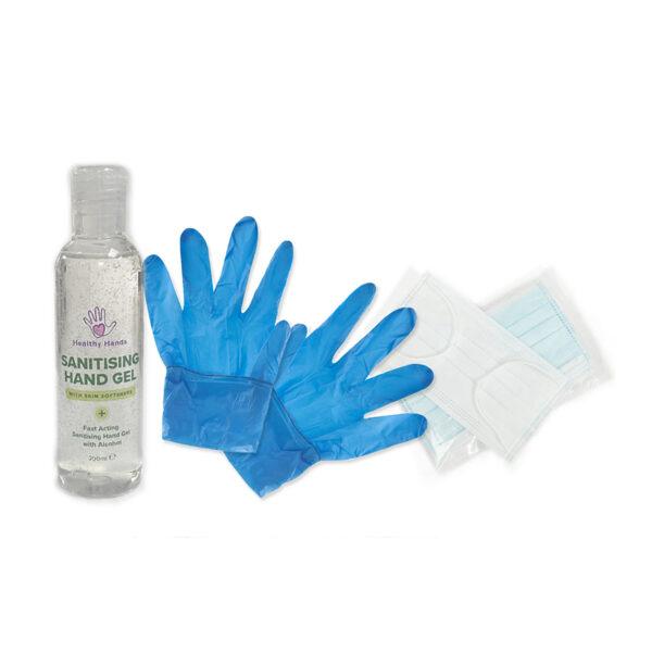 Hand Sanitiser, Face Masks and Gloves