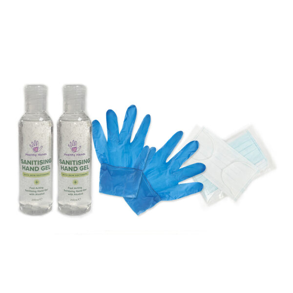 Hand Sanitiser, Face Masks and Gloves