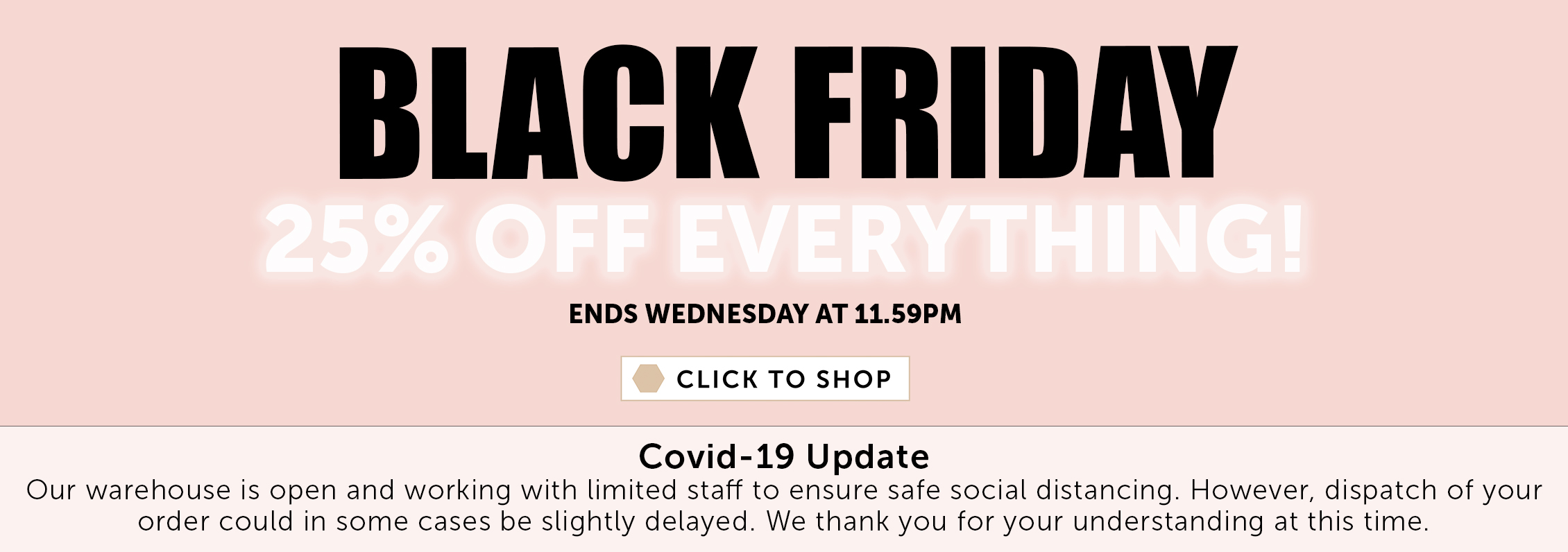 Black Friday - 25% off everything